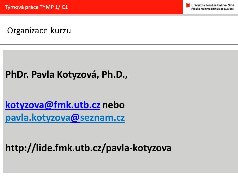 PhDr. Pavla Kotyzová, Ph.D.,