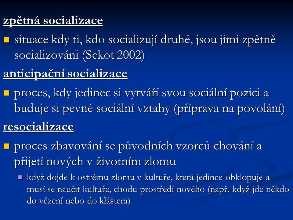 anticipační socializace