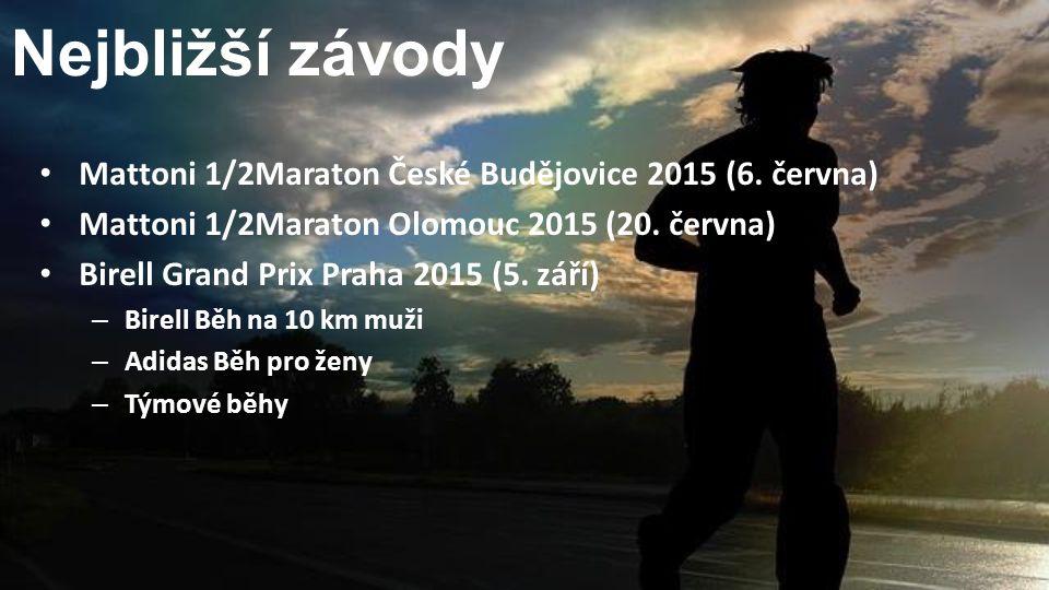 Nejbližší závody Mattoni 1/2Maraton České Budějovice 2015 (6. června)
