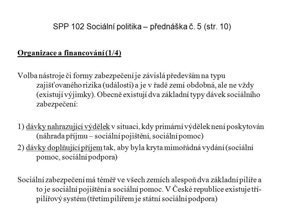 SPP 102 Sociální politika – přednáška č. 5 (str. 10)