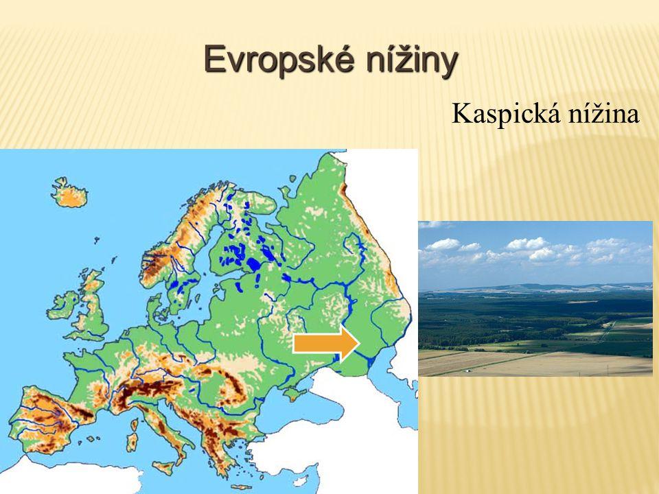 Evropské nížiny Kaspická nížina