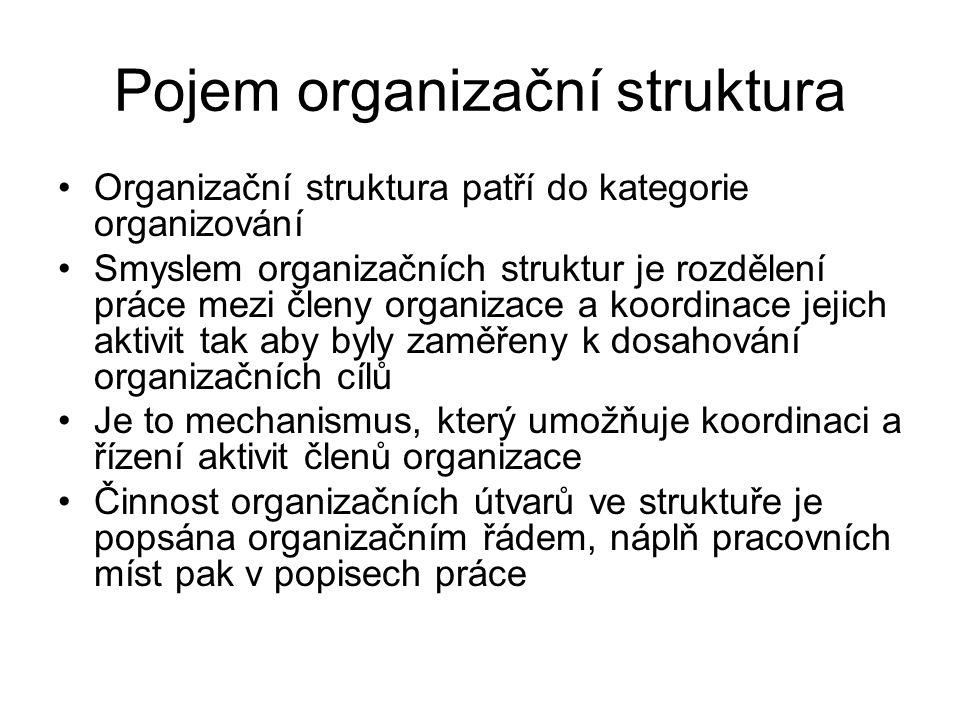 Pojem organizační struktura