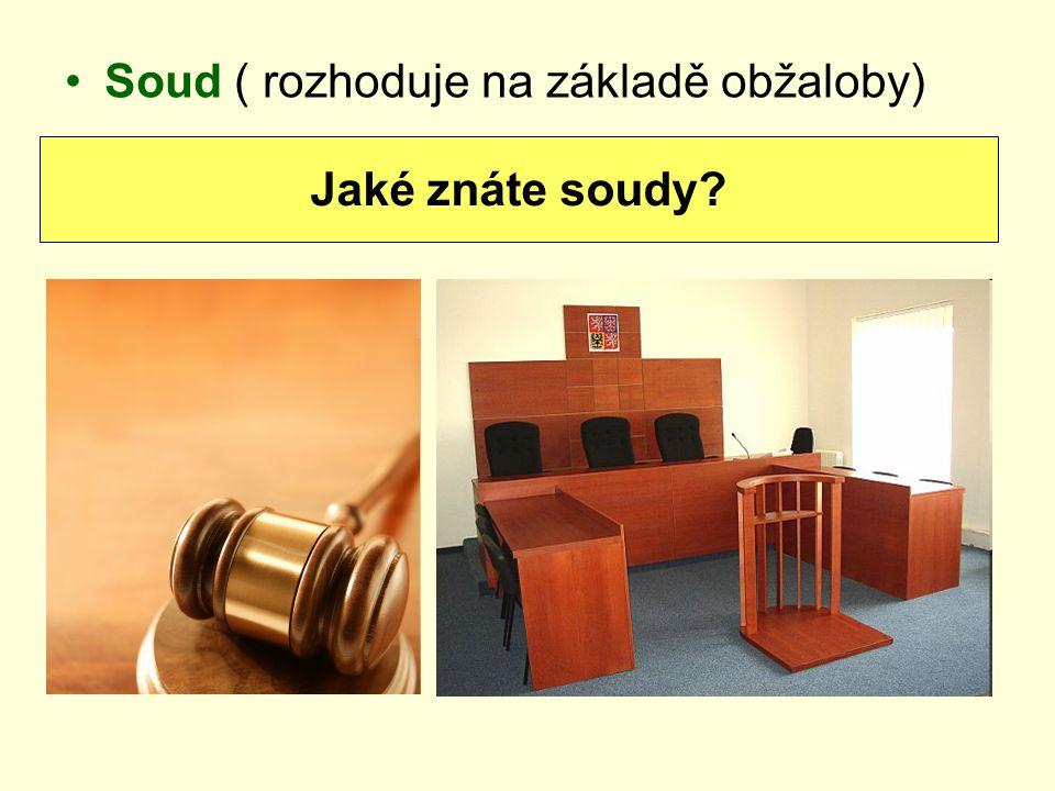 Soud ( rozhoduje na základě obžaloby)