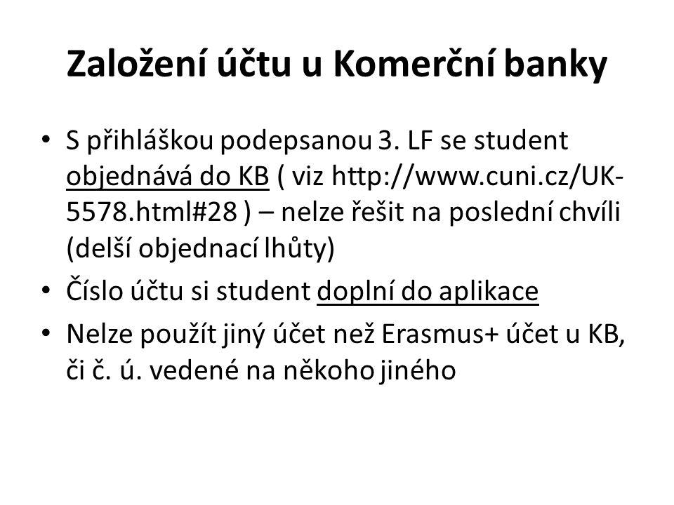 Založení účtu u Komerční banky
