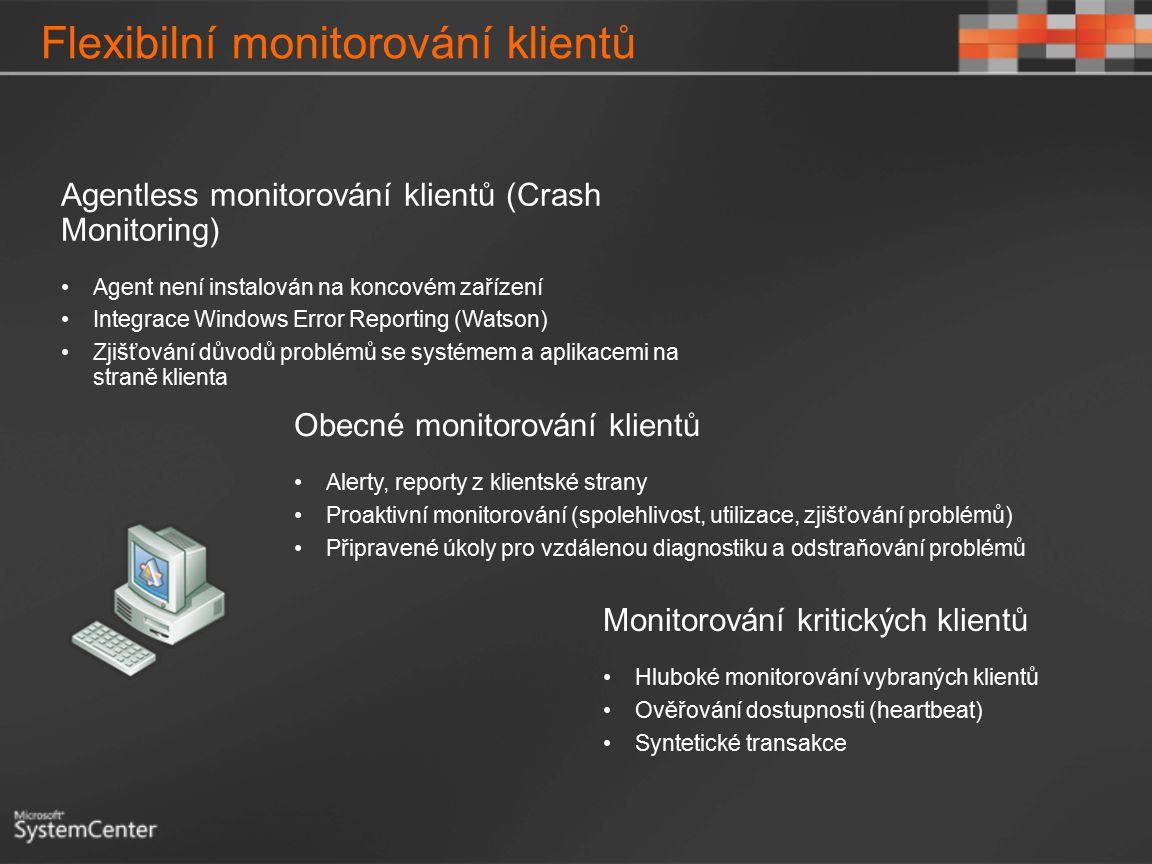 Flexibilní monitorování klientů