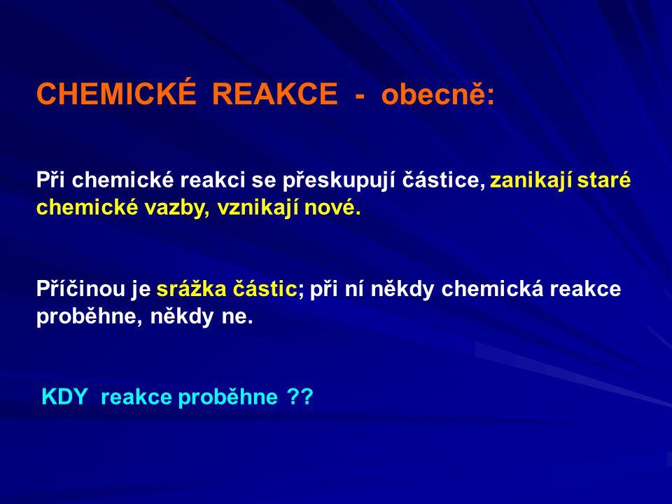 CHEMICKÉ REAKCE - obecně:
