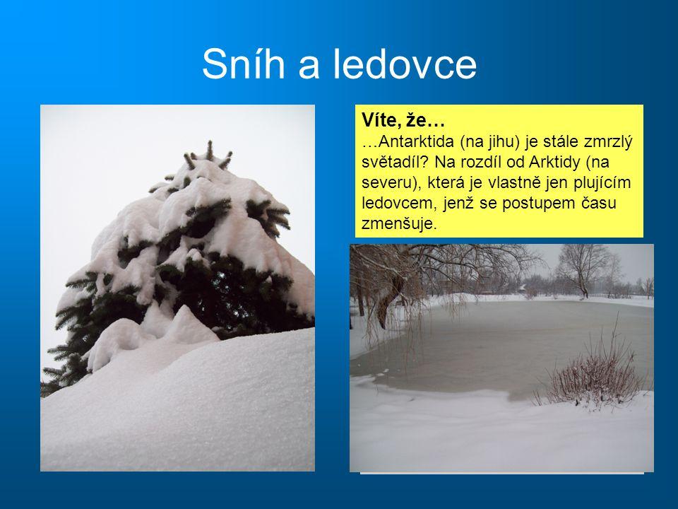 Sníh a ledovce