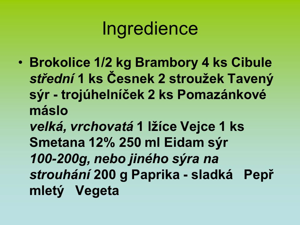 Ingredience