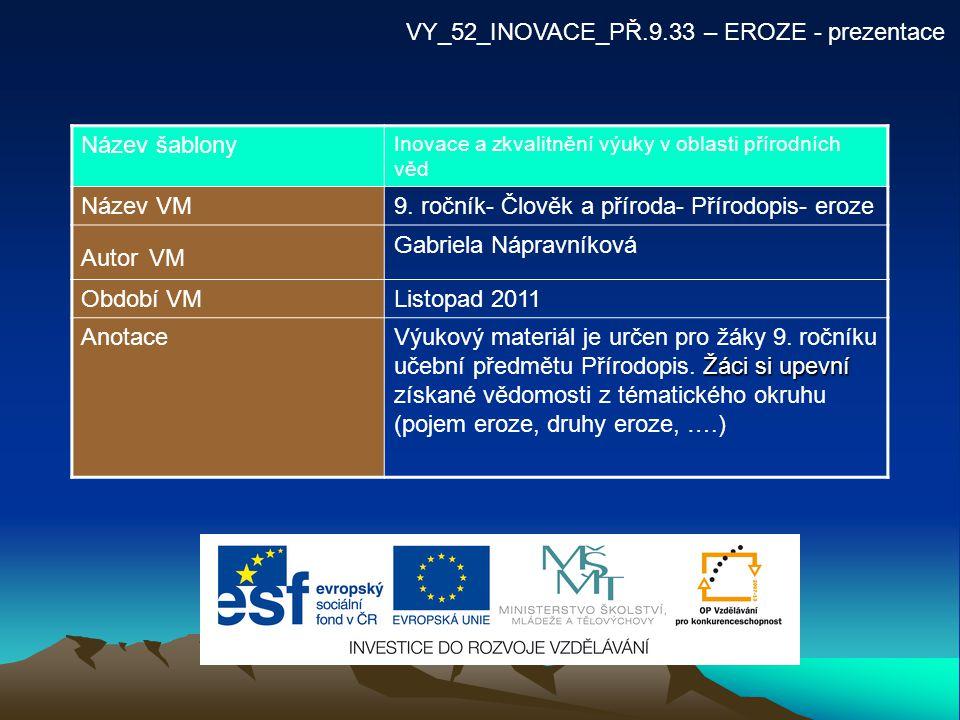 VY_52_INOVACE_PŘ.9.33 – EROZE - prezentace