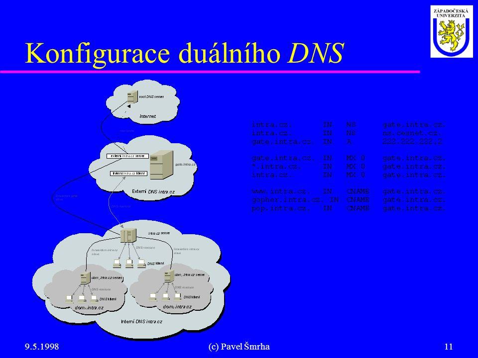 Konfigurace duálního DNS