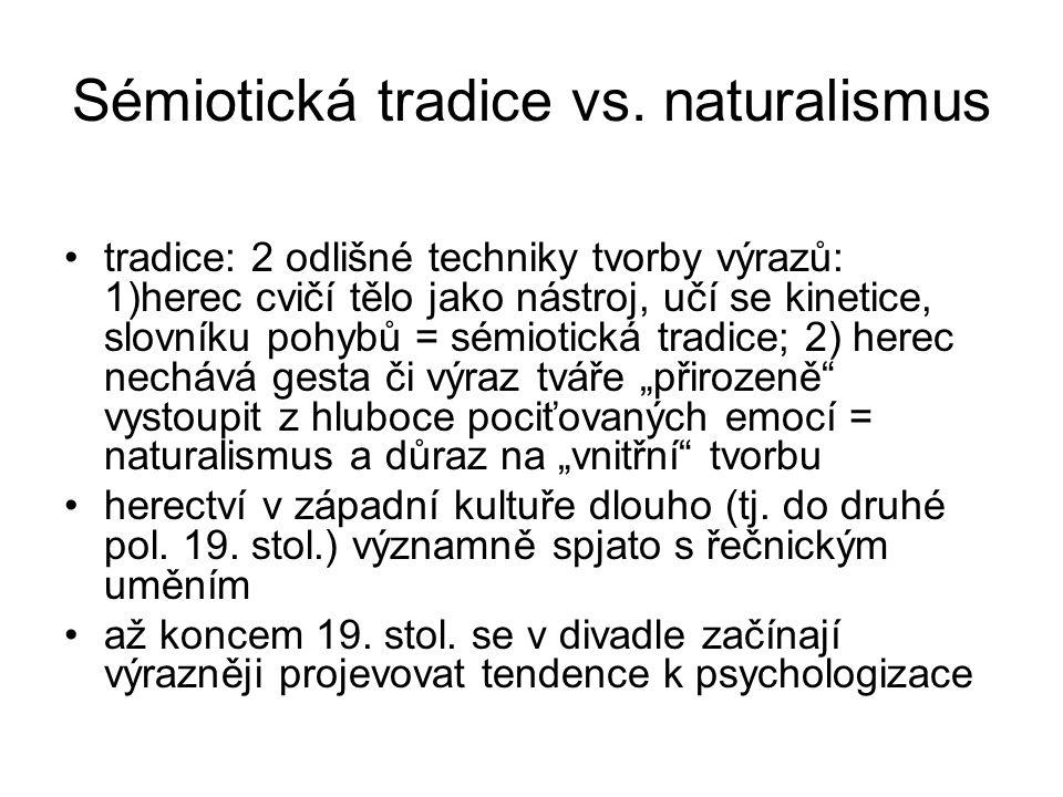 Sémiotická tradice vs. naturalismus
