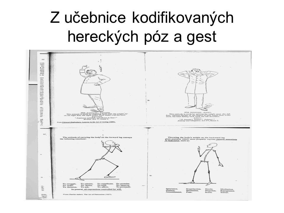 Z učebnice kodifikovaných hereckých póz a gest