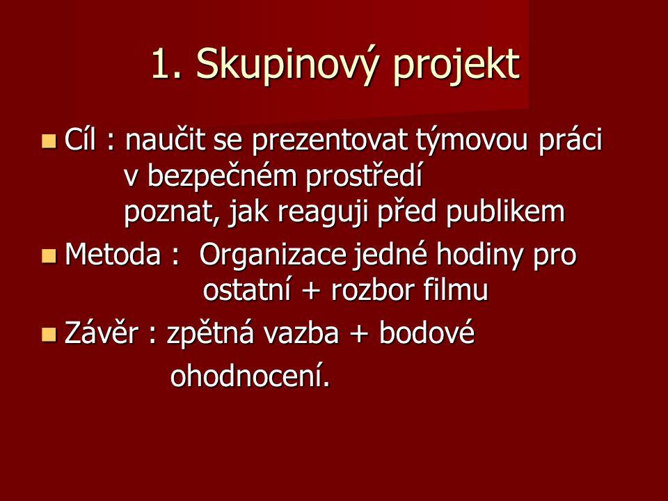 1. Skupinový projekt