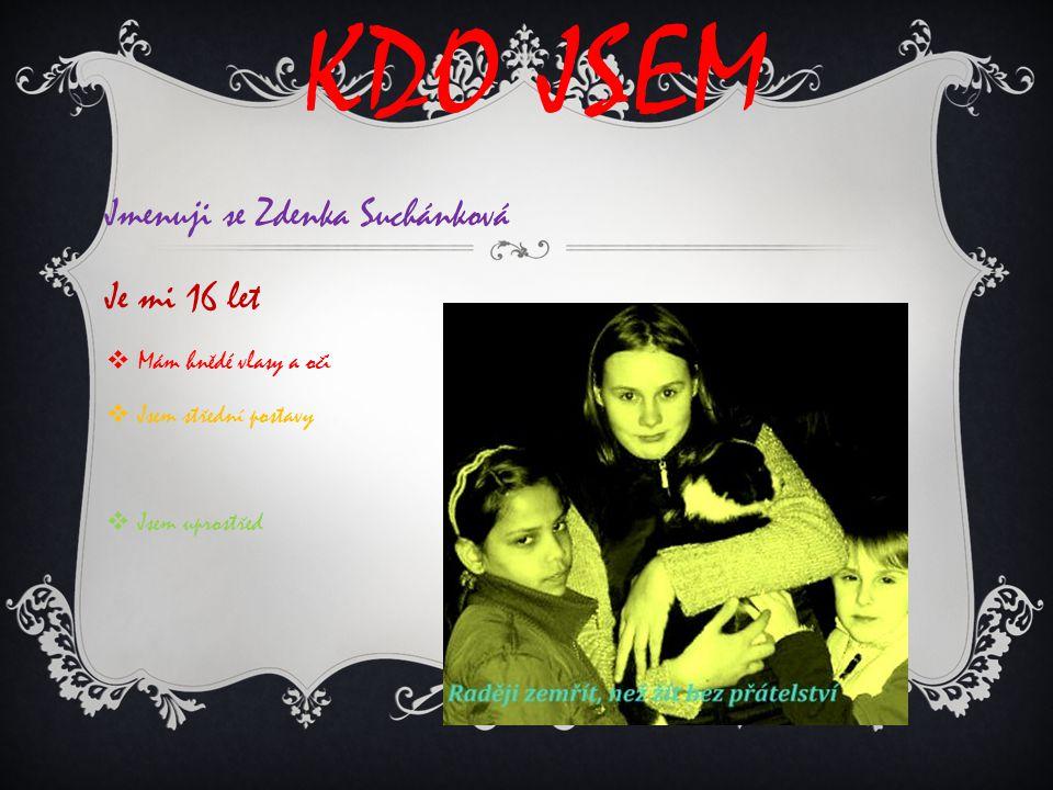 Kdo jsem Jmenuji se Zdenka Suchánková Je mi 16 let