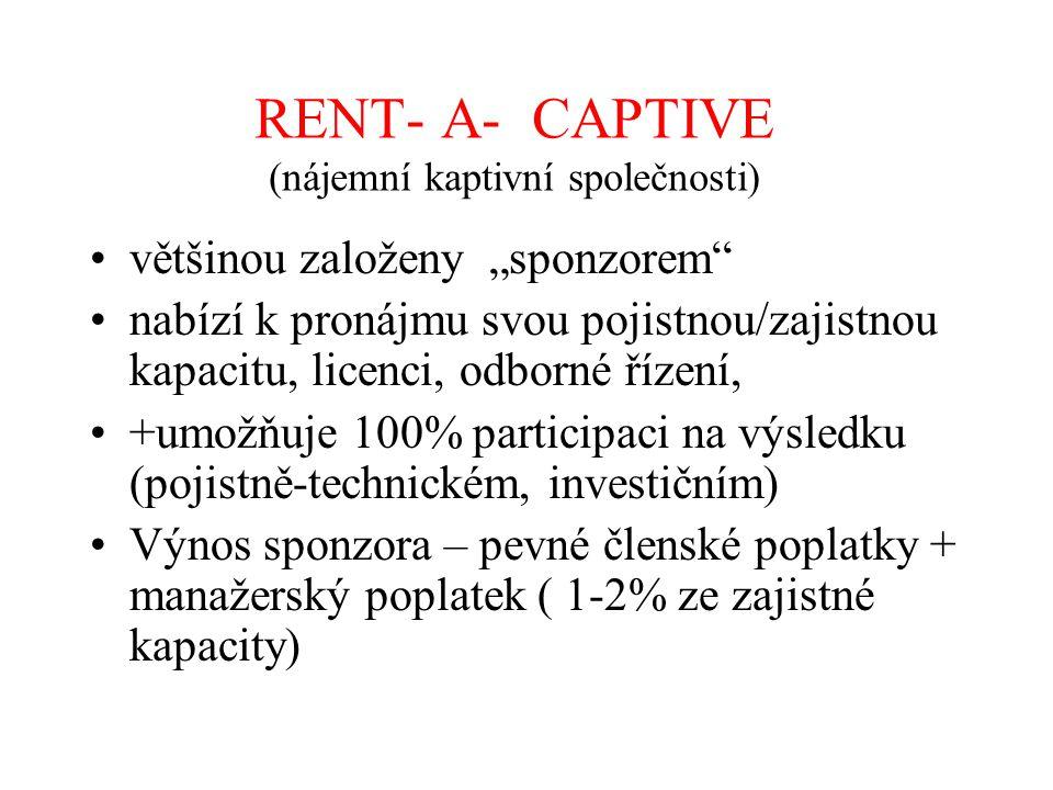 RENT- A- CAPTIVE (nájemní kaptivní společnosti)