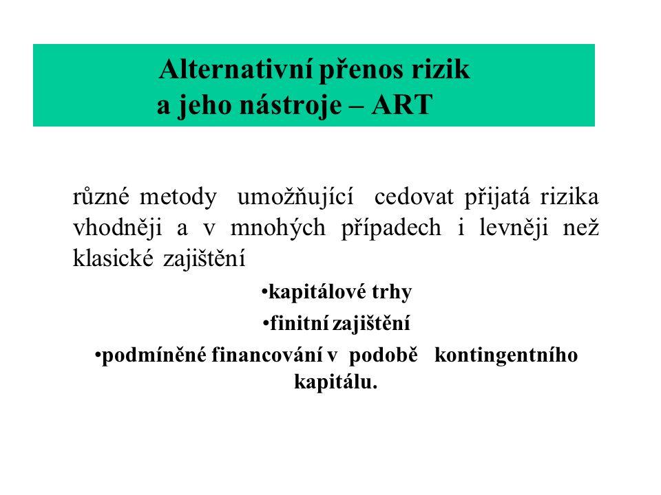 Alternativní přenos rizik a jeho nástroje – ART
