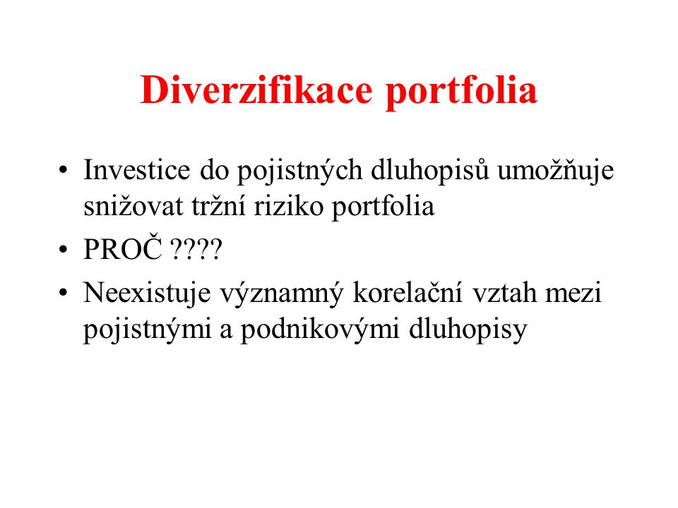 Diverzifikace portfolia