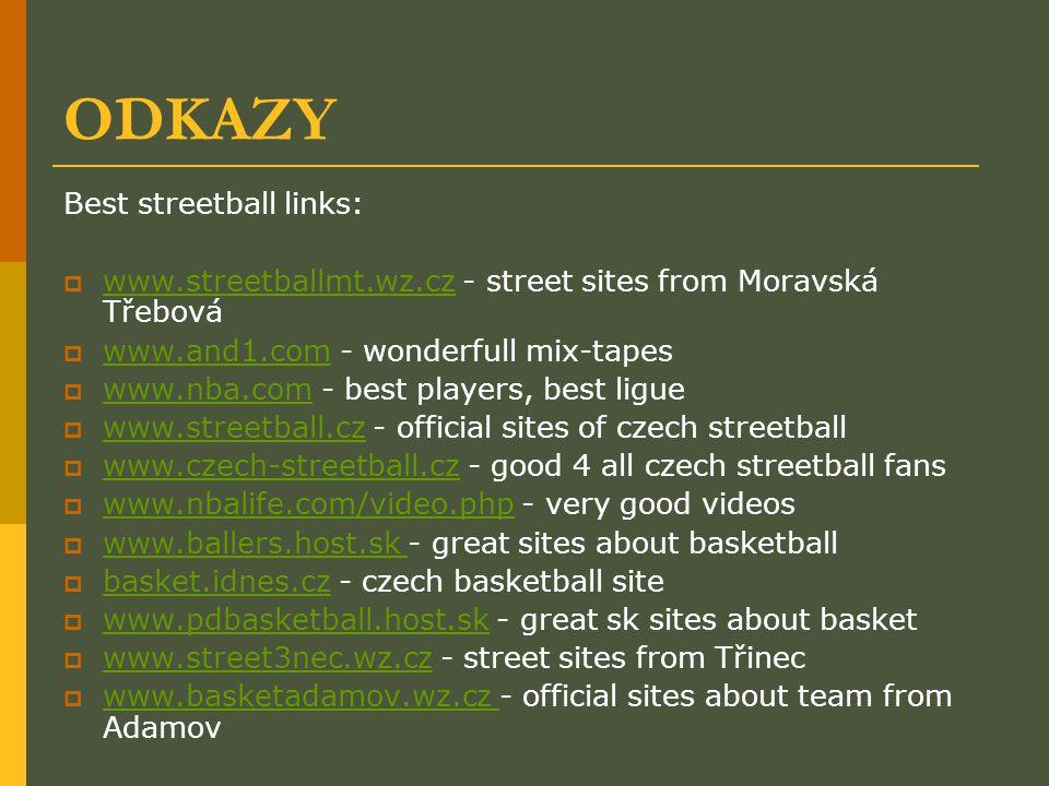 ODKAZY Best streetball links:
