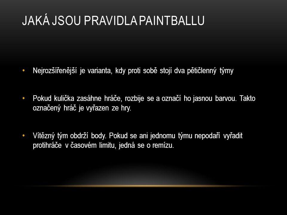 Jaká jsou pravidla paintballu