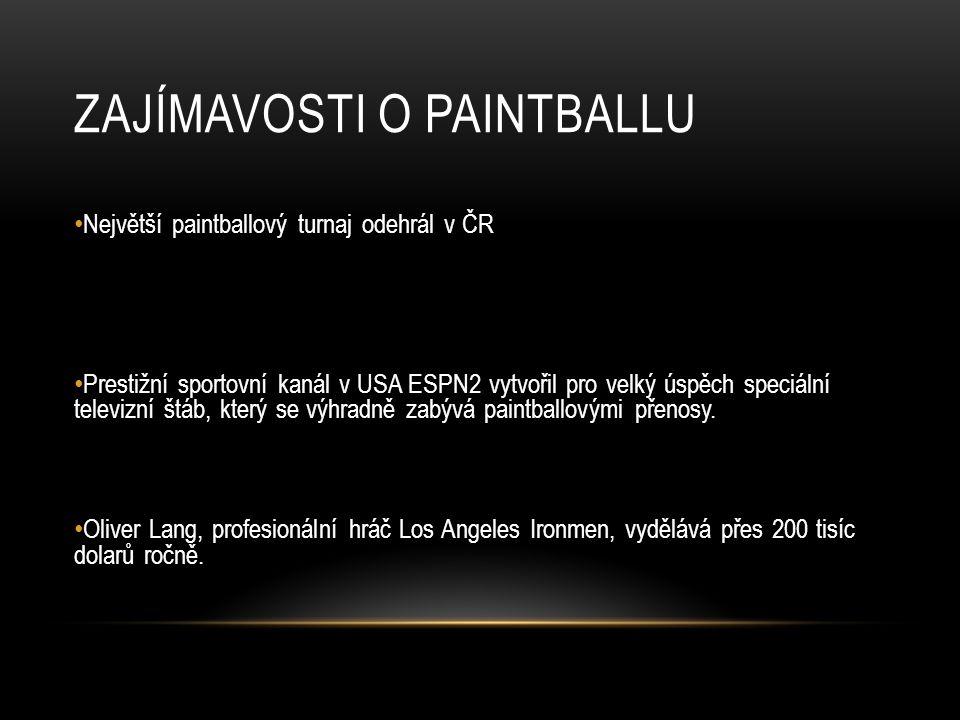 Zajímavosti o Paintballu