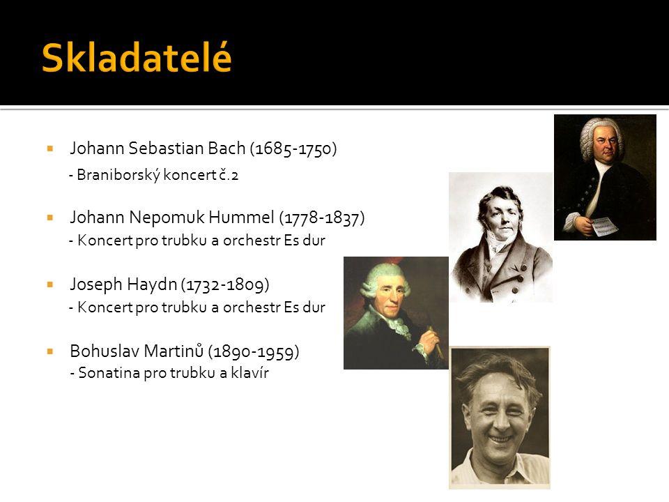 Skladatelé - Braniborský koncert č.2 Johann Sebastian Bach (1685-1750)