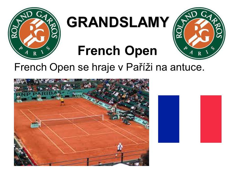GRANDSLAMY French Open French Open se hraje v Paříži na antuce.