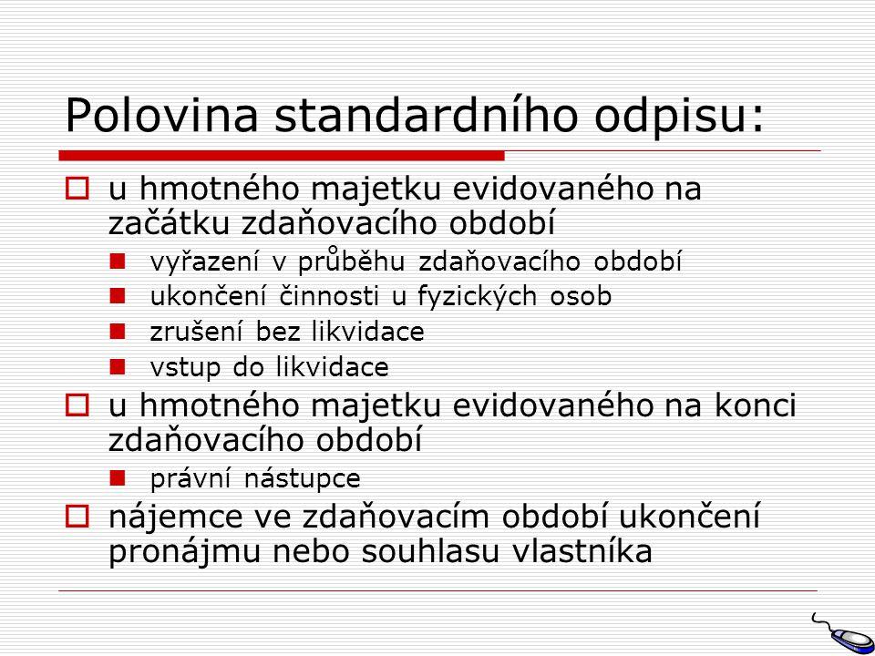 Polovina standardního odpisu: