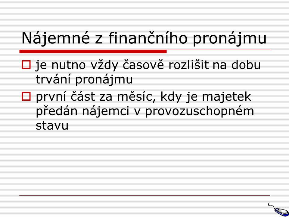 Nájemné z finančního pronájmu