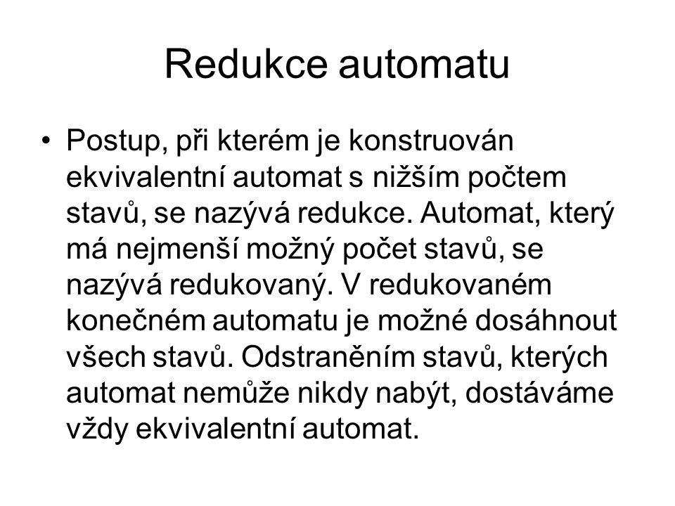 Redukce automatu