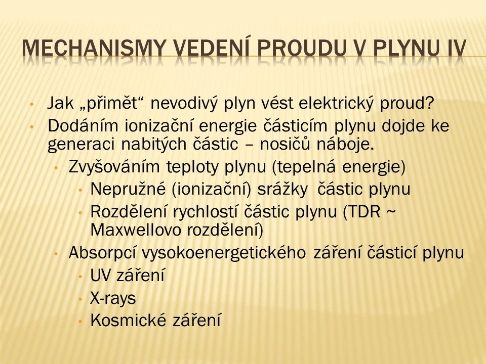 Mechanismy vedení proudu v plynu IV