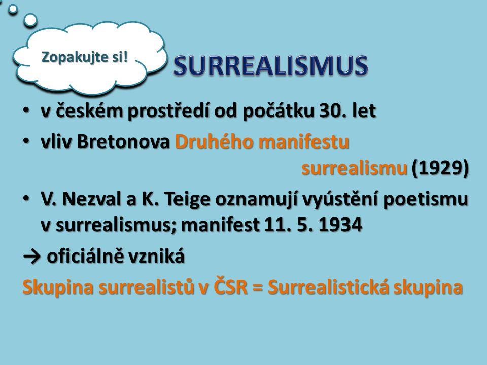 SURREALISMUS v českém prostředí od počátku 30. let