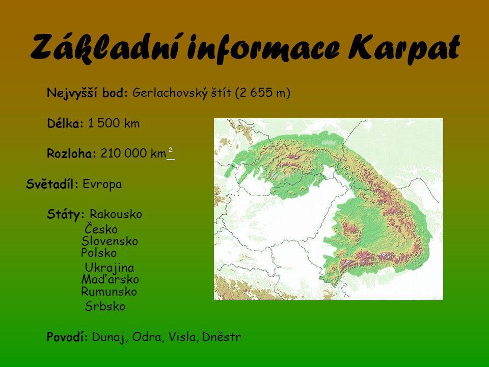 Základní informace Karpat