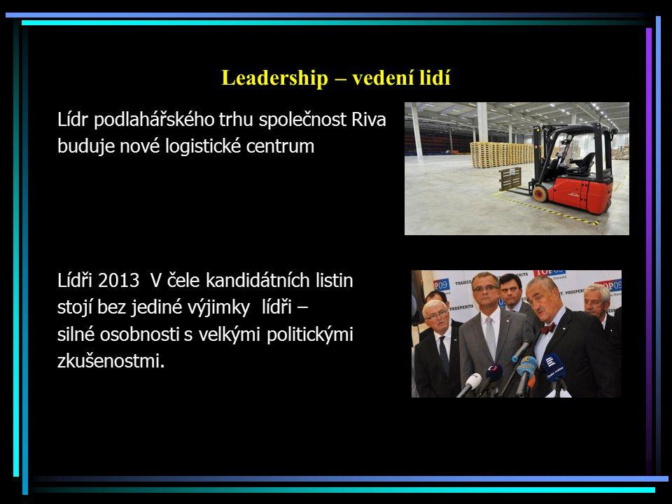 Leadership – vedení lidí