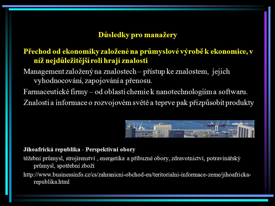 Farmaceutické firmy – od oblasti chemie k nanotechnologiím a softwaru.