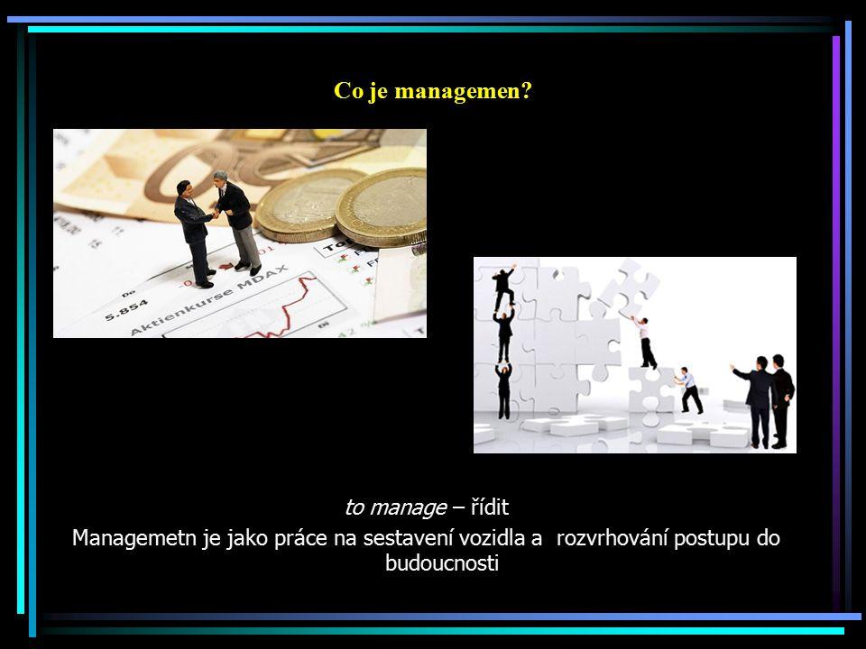 Co je managemen.