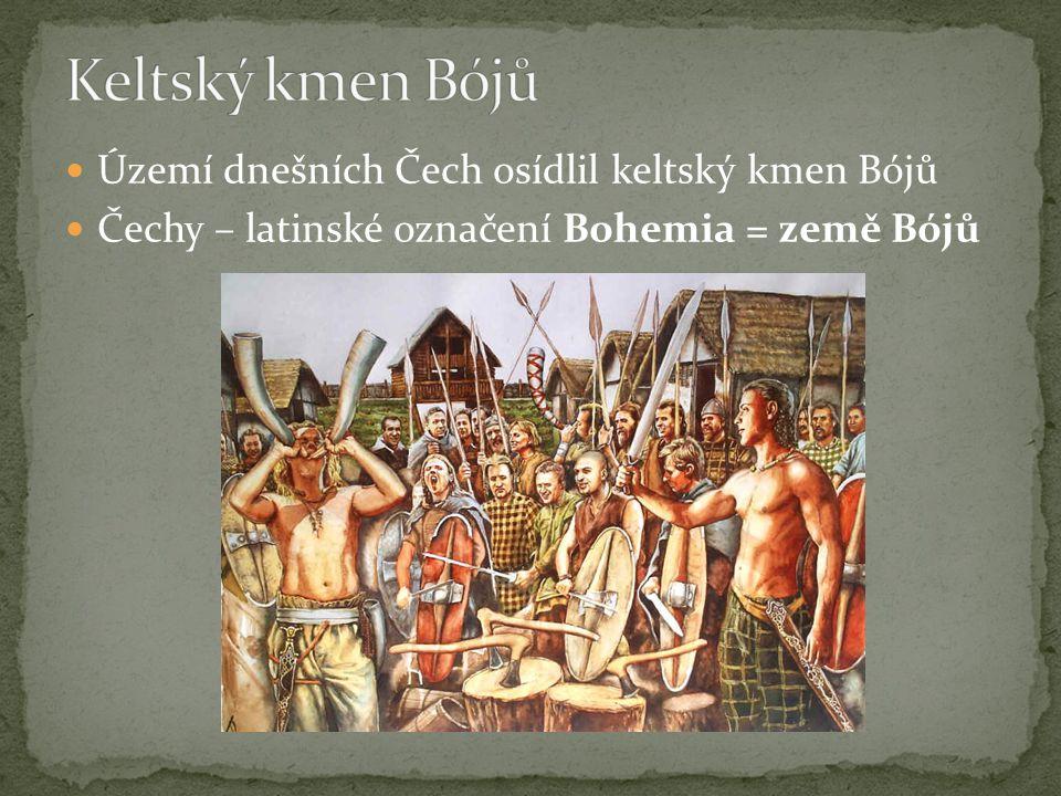 Keltský kmen Bójů Území dnešních Čech osídlil keltský kmen Bójů