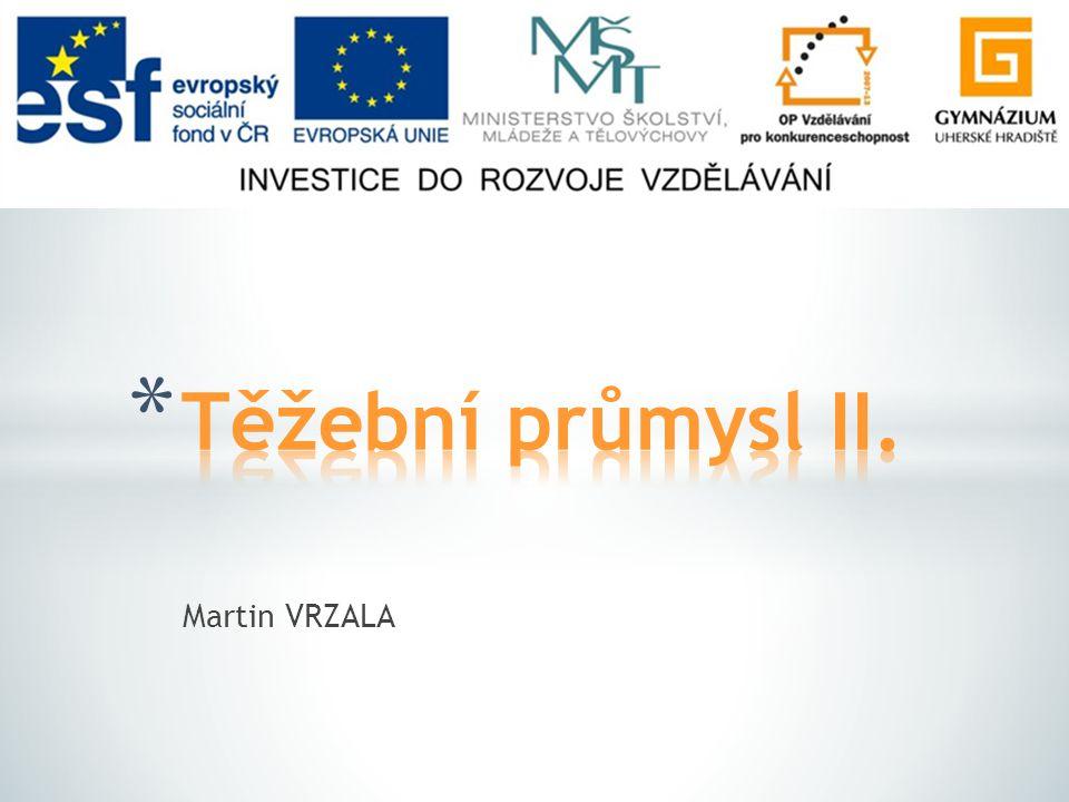 Těžební průmysl II. Martin VRZALA