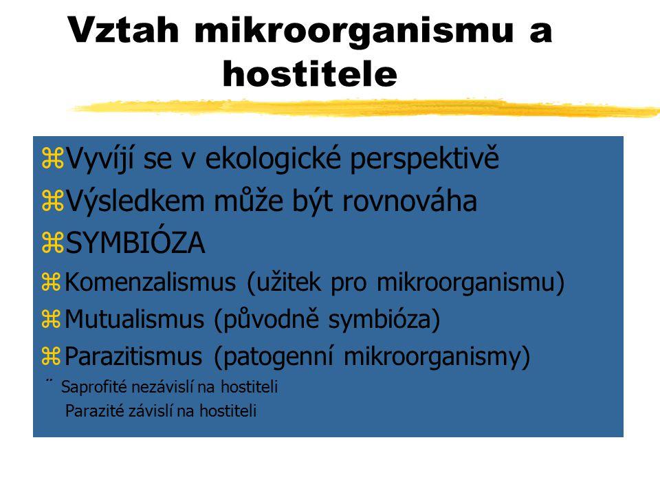 Vztah mikroorganismu a hostitele