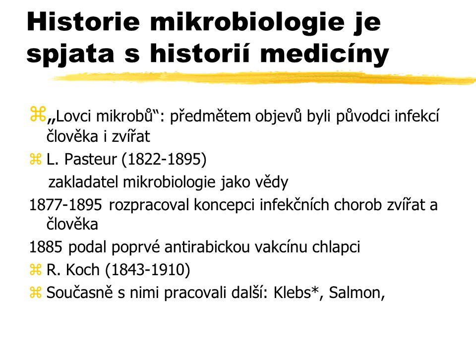 Historie mikrobiologie je spjata s historií medicíny
