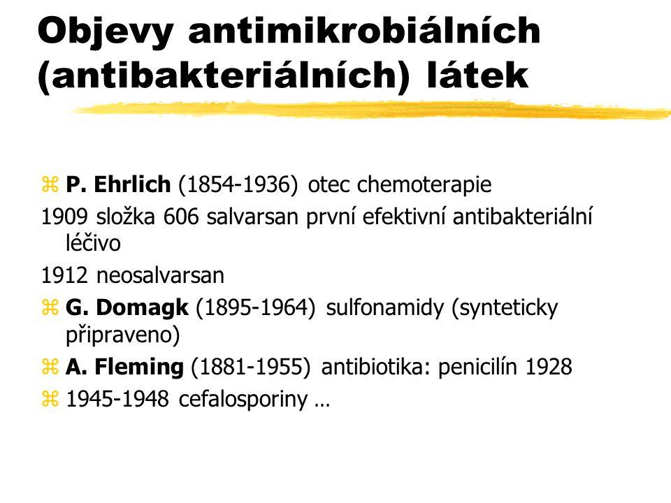 Objevy antimikrobiálních (antibakteriálních) látek