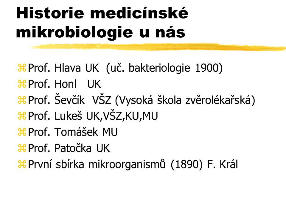 Historie medicínské mikrobiologie u nás