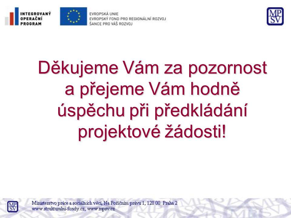 Děkujeme Vám za pozornost a přejeme Vám hodně úspěchu při předkládání projektové žádosti!