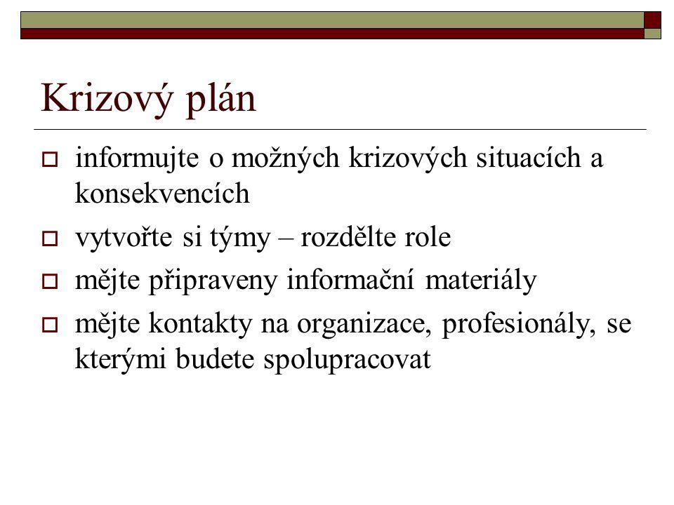 Krizový plán informujte o možných krizových situacích a konsekvencích