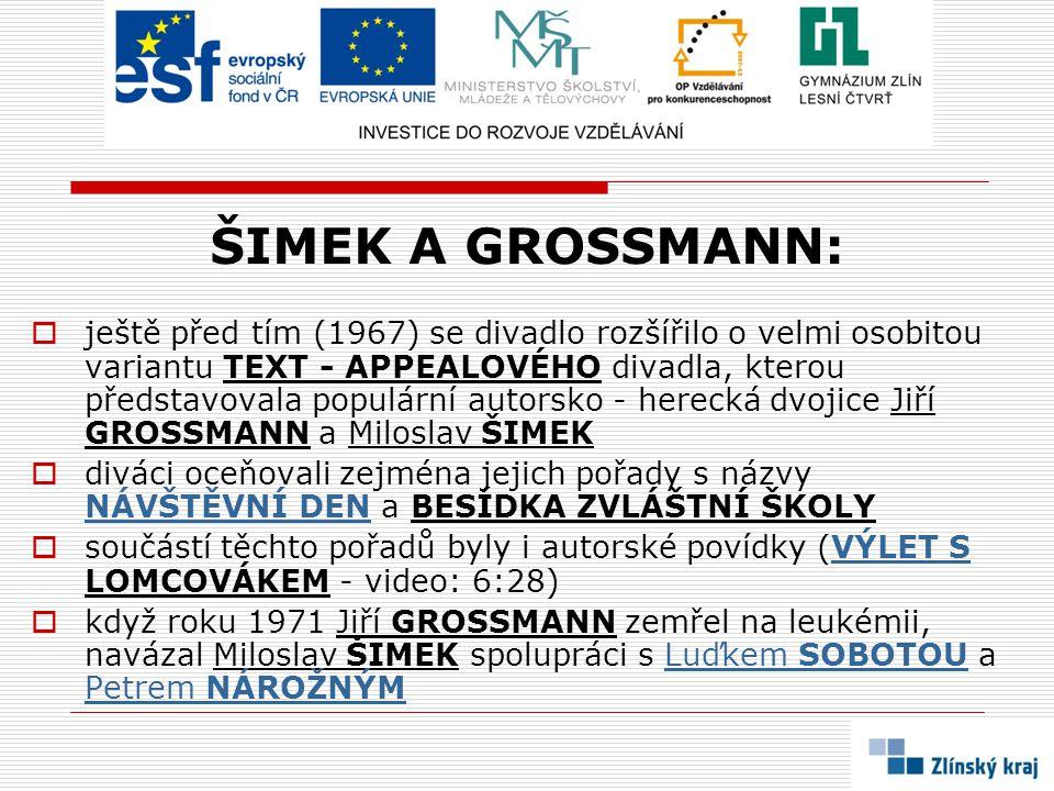 ŠIMEK A GROSSMANN: