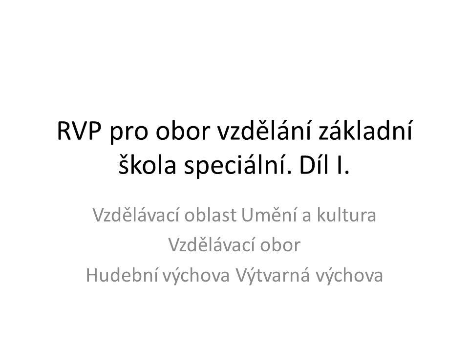 RVP pro obor vzdělání základní škola speciální. Díl I.