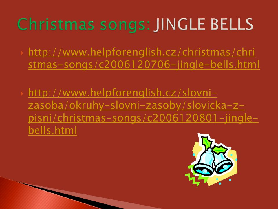 Christmas songs: JINGLE BELLS