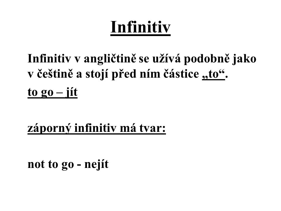 Infinitiv
