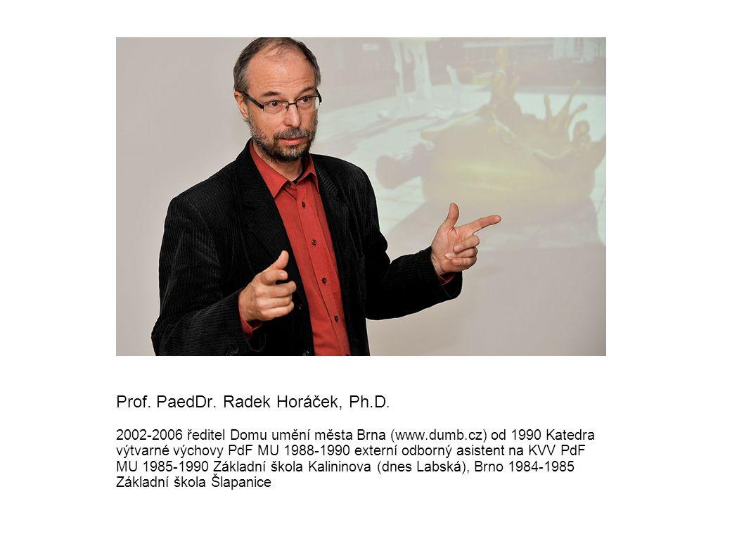 Prof. PaedDr. Radek Horáček, Ph. D