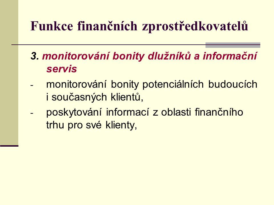 Funkce finančních zprostředkovatelů