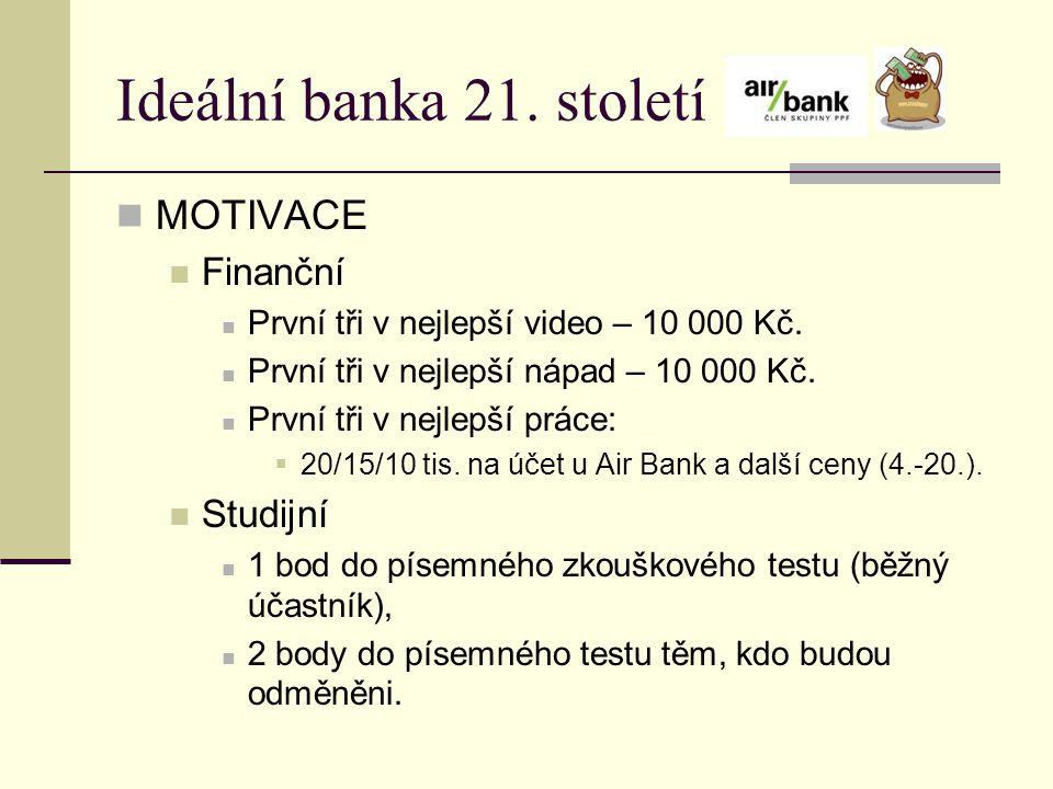 Ideální banka 21. století MOTIVACE Finanční Studijní